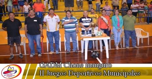 GADM Chone inauguró II Juegos Deportivos Municipales