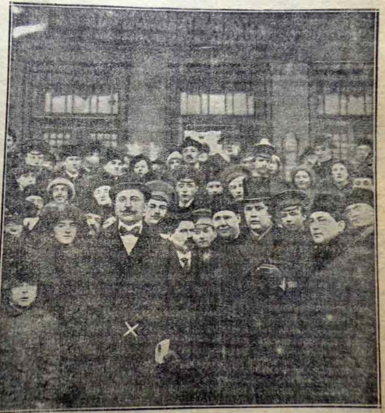1914. Встреча Маринетти (Х) на Александровском вокзале
