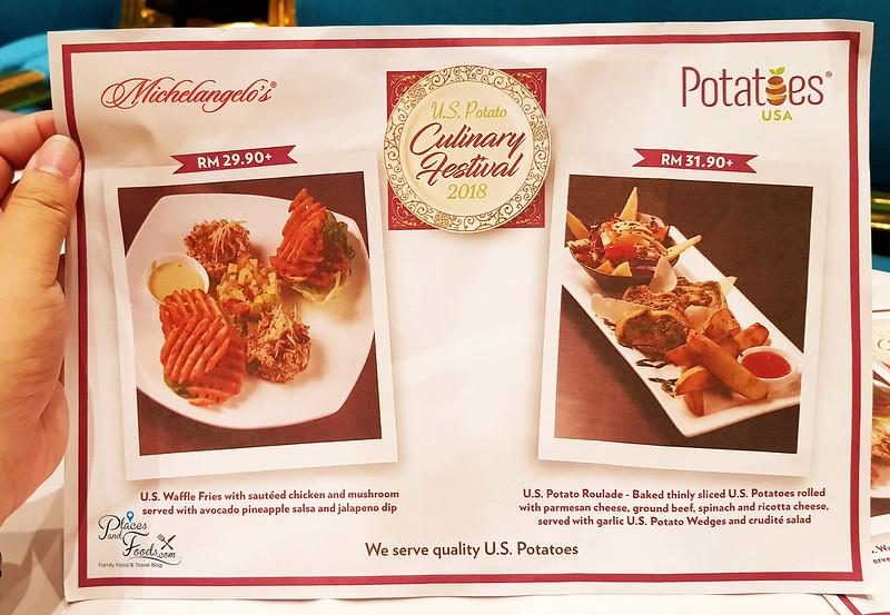 michaelangelo pavilion menu