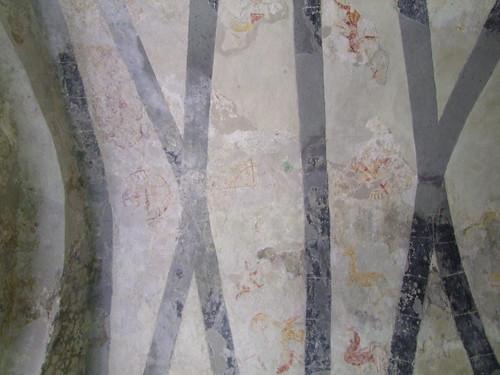 Clare Island, County Mayo, Cistercian Monastery, wall paintings 3