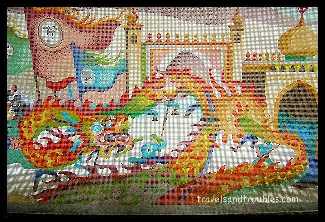 Mosaic muur geschiedenis Singapore