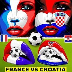 :trophy::soccer:️ #France vs #Croatia :soccer:️:trophy: #francecroatia :soccer:️ #francecroatie :soccer:️ #francecroatie2018 :soccer:️  #vectorillustrations by #BluedarkArt / #TheChameleonart :soccer:️ #Licenses are available for #sale here :point_right: