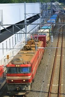 海峡線を行く貨物列車