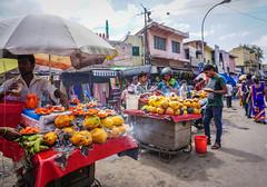 Selling fresh fruits on street