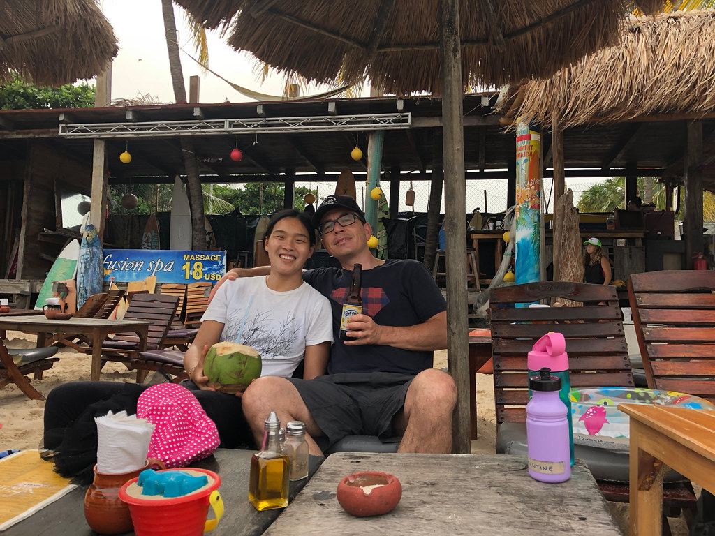 Drinks on the beach in Playa del Carmen
