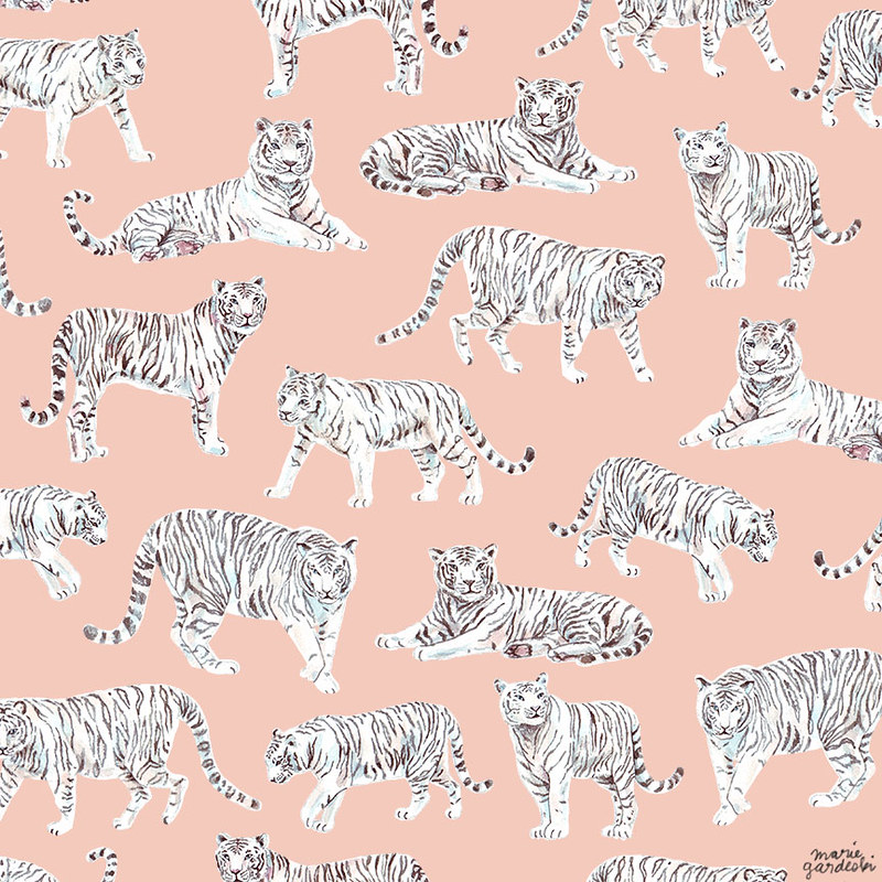 White Tiger Fabric