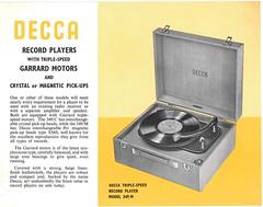 Decca Advert Garrard Motors