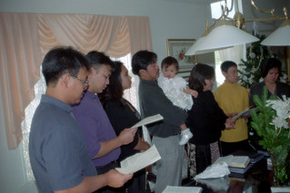 Relatives and friends at the baptism