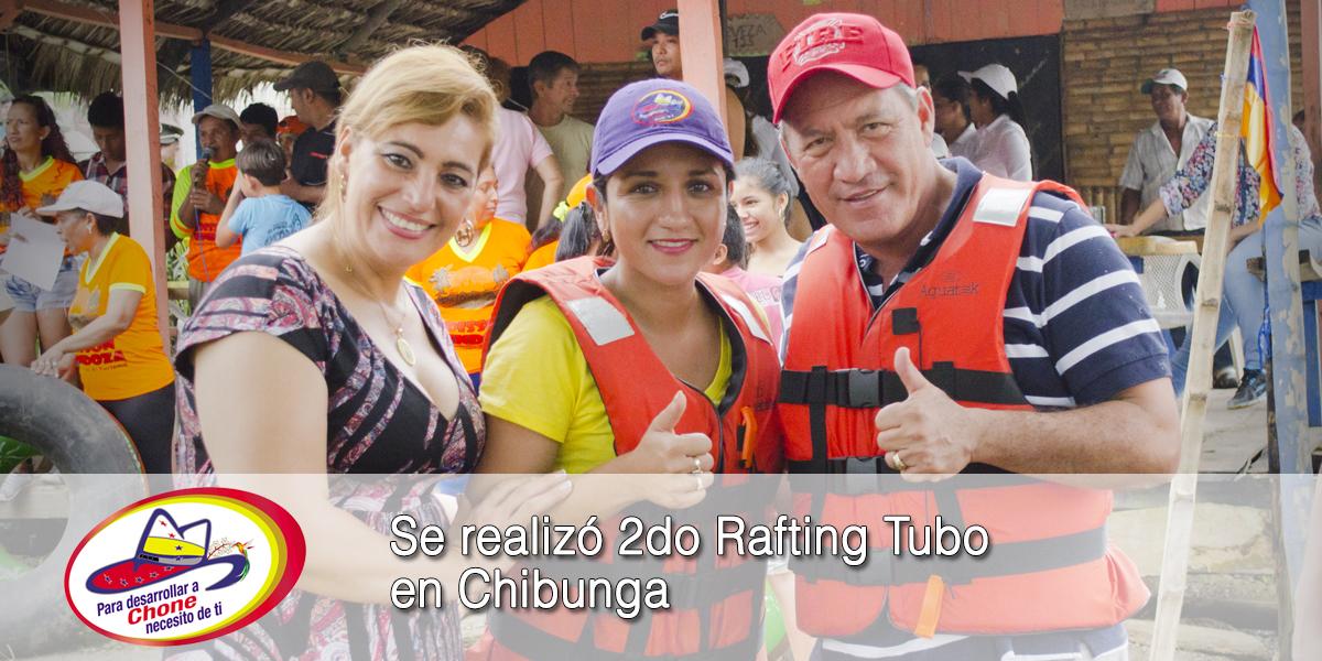Se realizó 2do Rafting Tubo en Chibunga