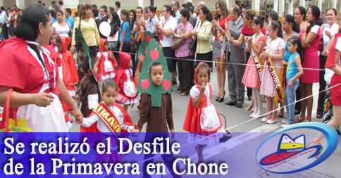 Se realizó el Desfile de la Primavera en Chone