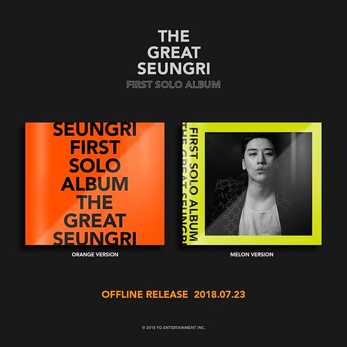 Seungri THE GREAT SEUNGRI Solo Album 2018