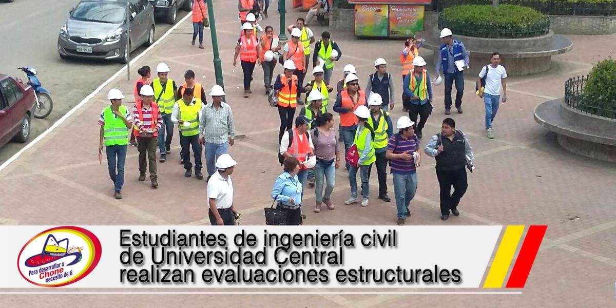 Estudiantes de ingeniería civil de Universidad Central realizan evaluaciones estructurales
