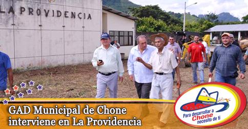 GAD Municipal de Chone interviene en La Providencia