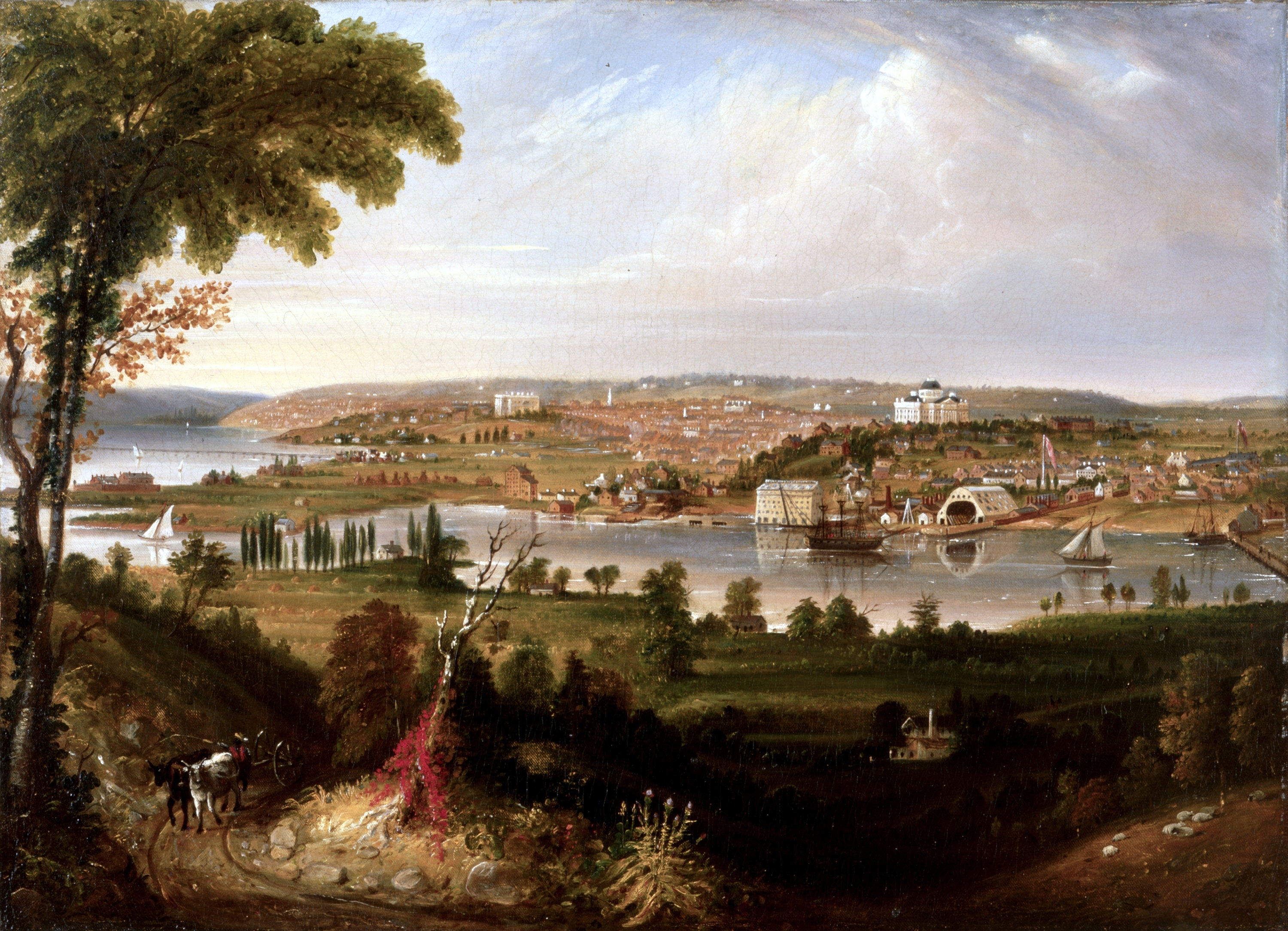 City of Washington from Beyond the Navy Yard by George Cooke, 1833, on display in the White House Oval Office. The White House Historical Association, 2008: