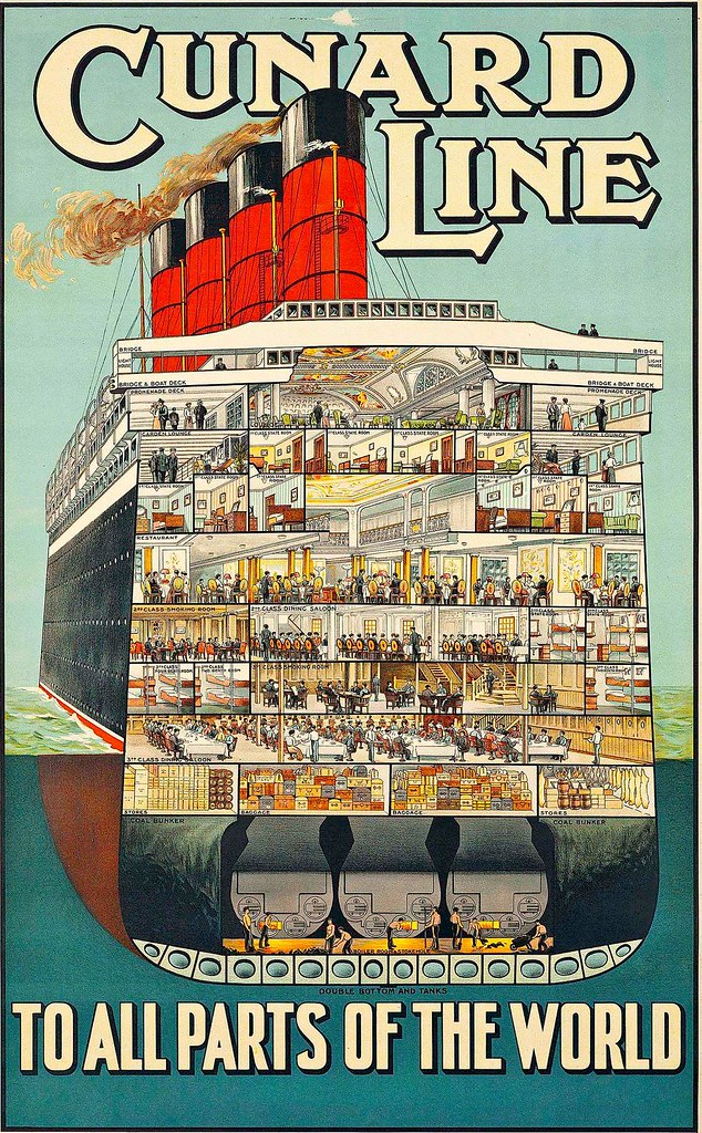 CUNARD LINE TO ALL PARTS OF THE WORLD, 1914