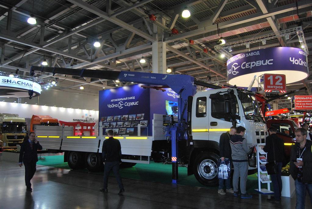 КМУ Чайка-Tadano TM-ZR825 с бортовой платформой на базе ISUZU GIGA (CYZ52)