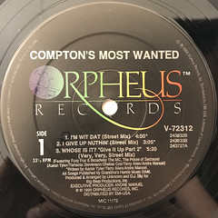 COMPTON'S MOST WANTED:I'M WIT DAT(LABEL SIDE-A)