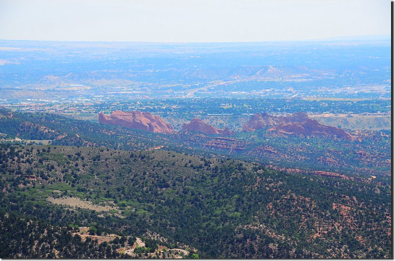 Looking east at Garden of the Gods from The Incline