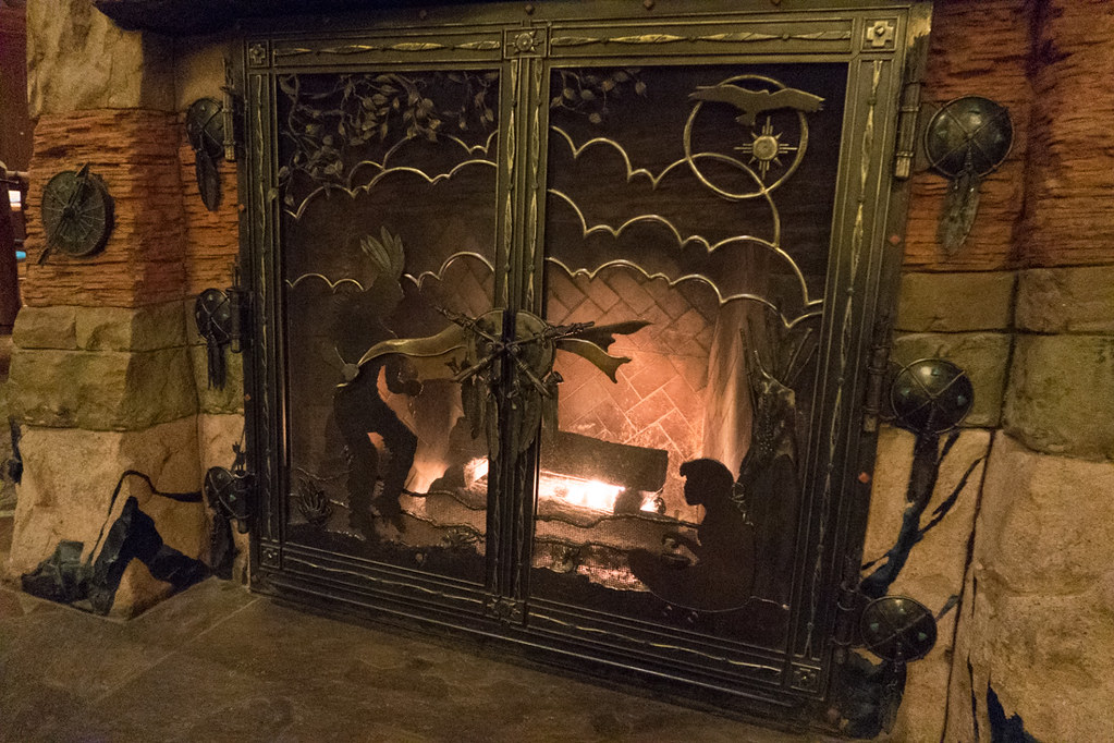Fireplace at Wilderness Lodge