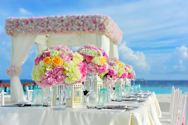 Decorar con flores una boda