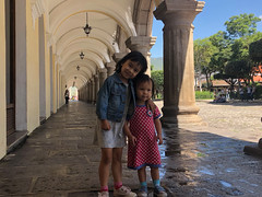 The girls in Antigua town square