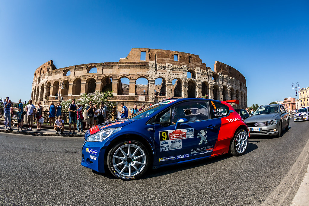09 Laurent Pellier (FRA), Geoffrey Combe FRA), Peugeot Rally Academy, PEUGEOT 208 R5, action during the 2018 European Rally Championship ERC Rally di Roma Capitale,  from july 20 to 22 , at Fiuggi, Italia - Photo Thomas Fenetre / DPPI