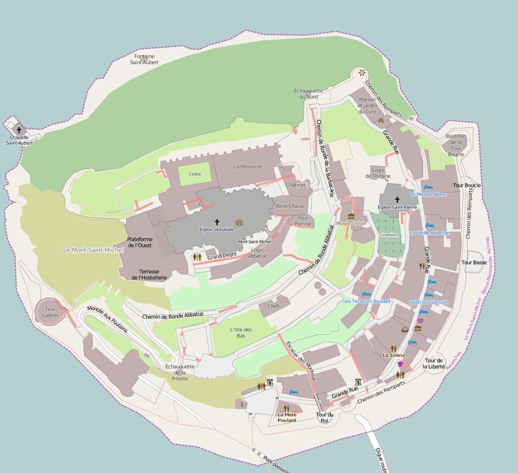 Map of Mont Saint-Michel, France