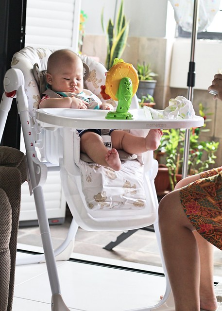 Mothercare Bear & Friends High Chair: Foldable Baby Chair With 6 Adjustable Heights