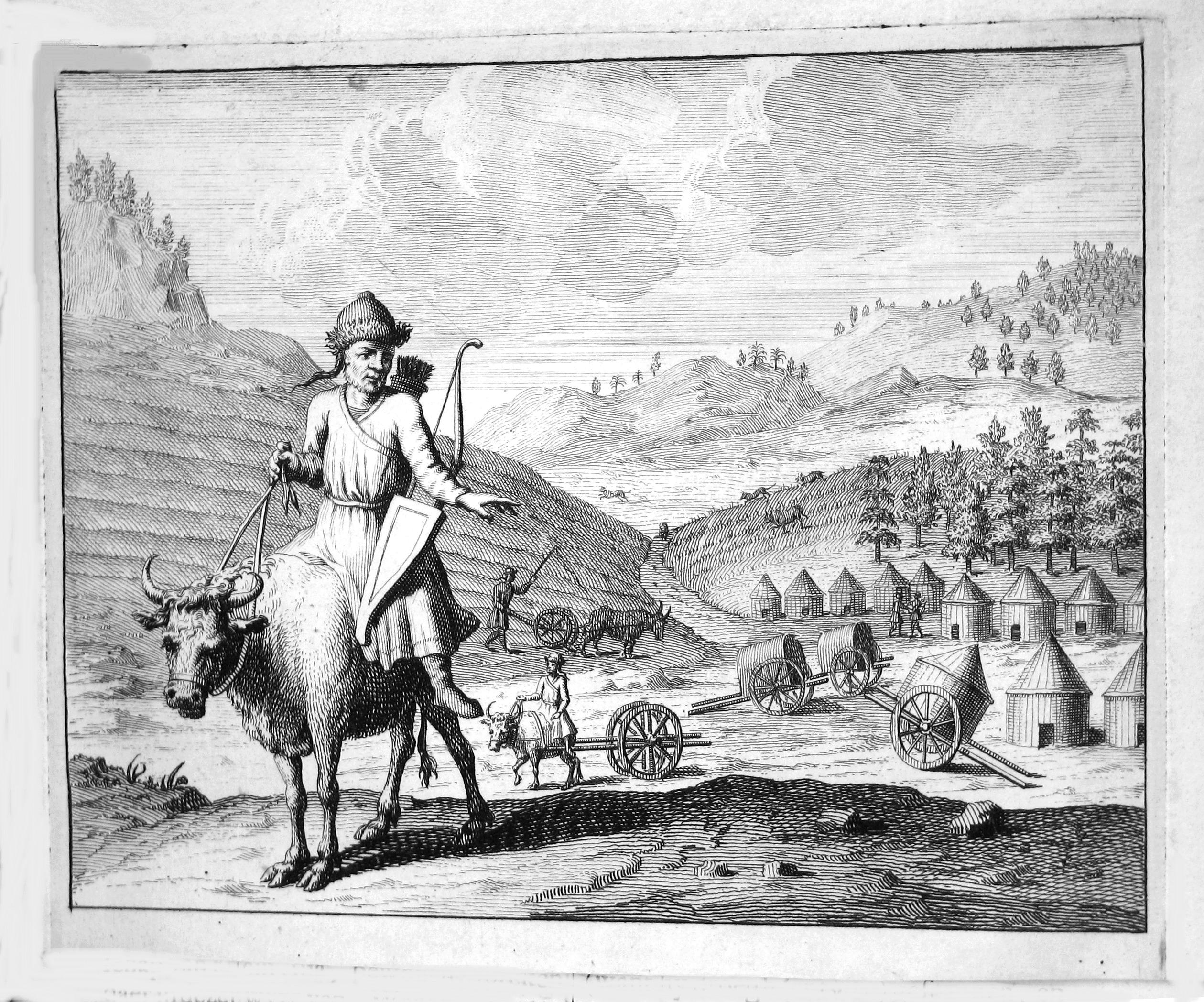 Всадник и крестьяне