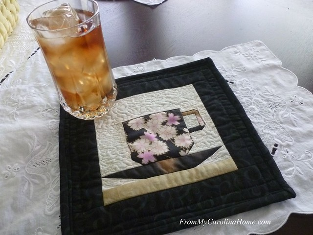 Teacup Mug Rug at From My Carolina Home