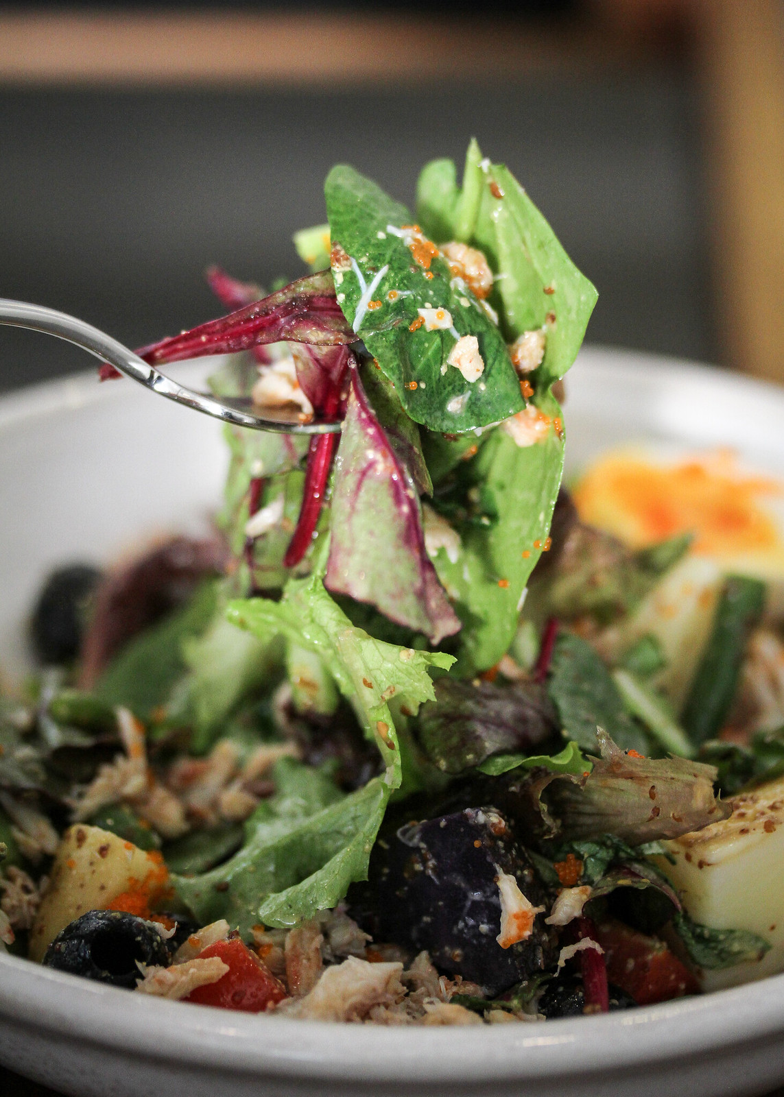 Five Oars Coffee Roasters Salad on Fork