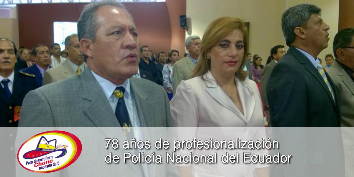 78 años de profesionalización de Policía Nacional del Ecuador