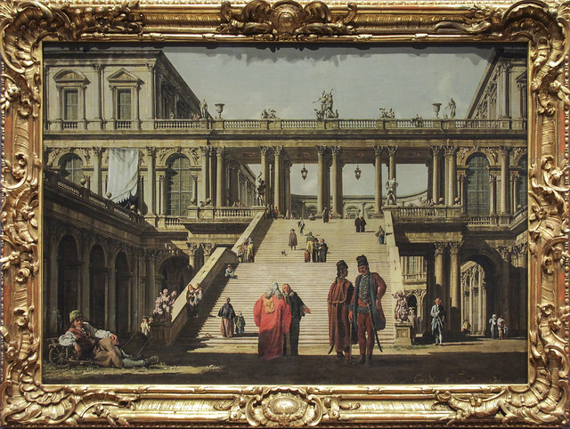 Veduta Ideale with Palace Staircase, Canaletto, 1762