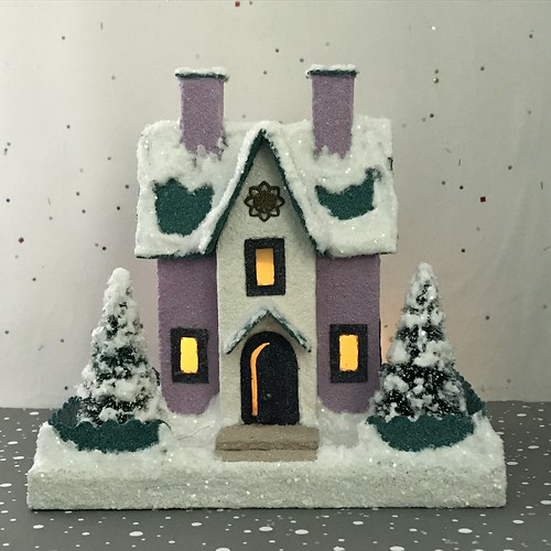 Lilac and Teal Putz House