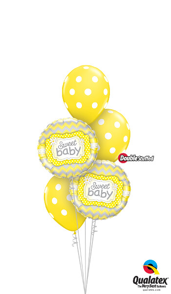 Big Yellow Baby Polka Dots