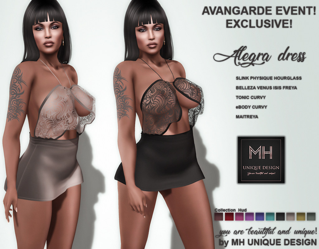 MH-Alegra Dress Collection- EXCLUSIVE FOR AVANGARDE EVENT  75L$ - TeleportHub.com Live!