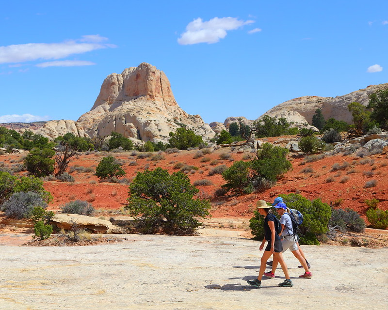 IMG_4714 Hikers on Rim Overlook Trail, Capitol Reef National Park