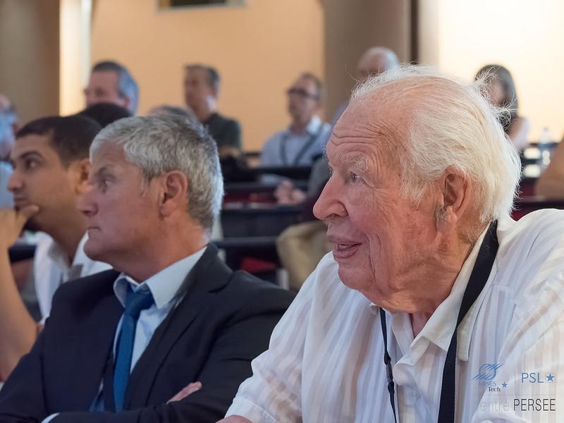 Sénateur Pierre LAFFITTE et Laurent FULCHERI Directeur de recherche du centre PERSEE