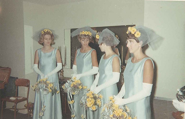 1968-bridesmaids for Carol's wedding California