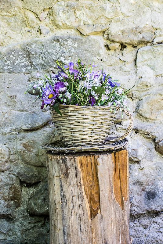 Pranzo nell'orto - Cesto con fiori