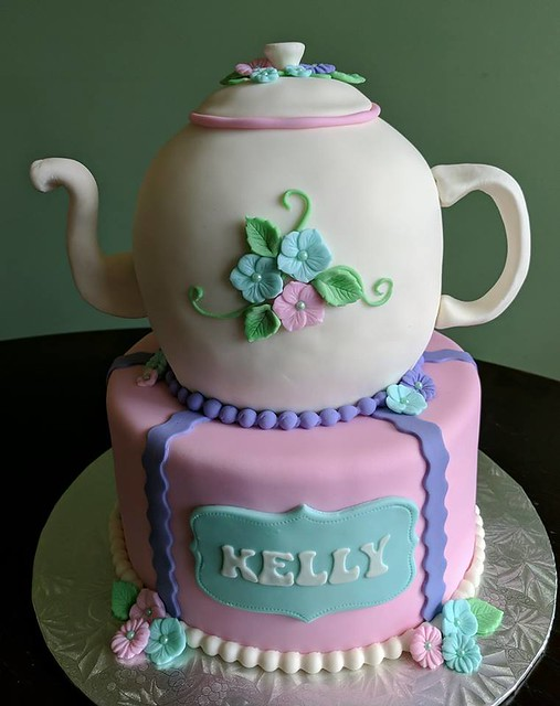 Teapot Cake by Cute Cakes