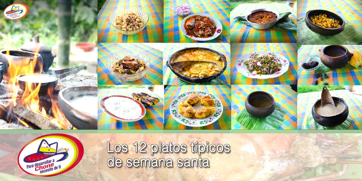 Los 12 platos típicos de semana santa