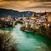 Mostar Bosnia beautiful Sunset and Lake by franciscobarongarcia