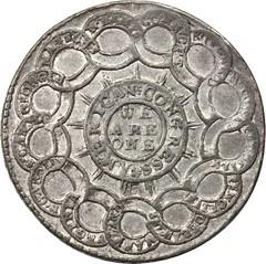 Betts-614 Felicitas Britannia et America medal reverse