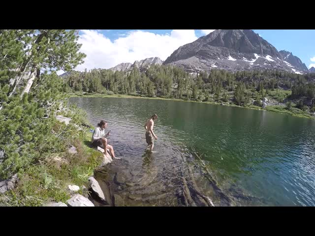 1664 Video of my son taking a swim in Seventh Lake