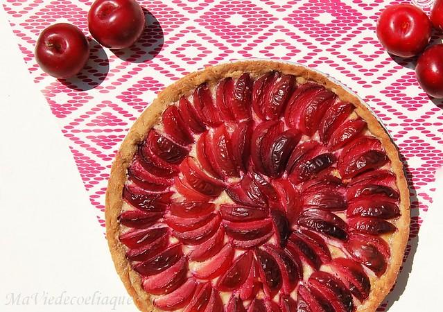 tarte aux prunes sans gluten sans lactose