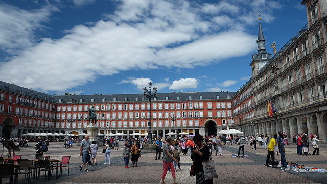 Madrid , plaza Mayor ., Fujifilm X-T10, XF18-55mmF2.8-4 R LM OIS