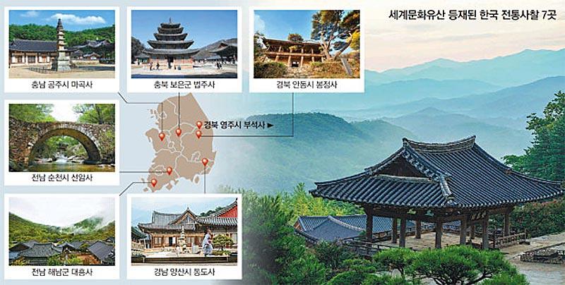 7 vihara gunung di Korea Selatan resmi menjadi situs Warisan Dunia UNESCO.