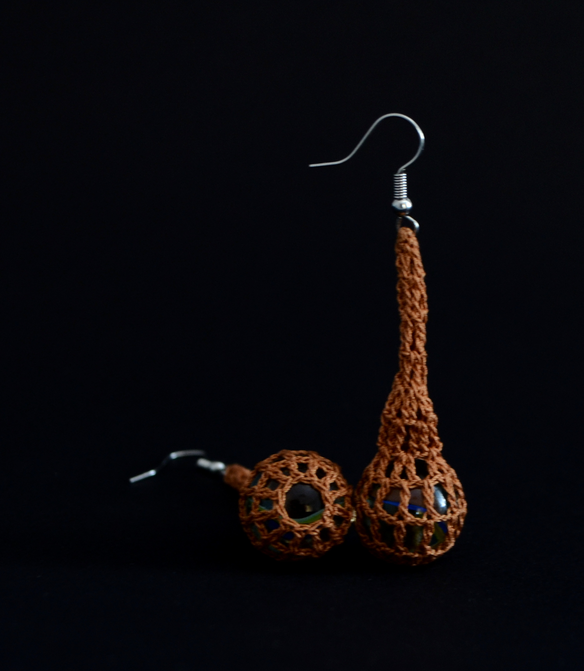 Crochet earrings - Marbles