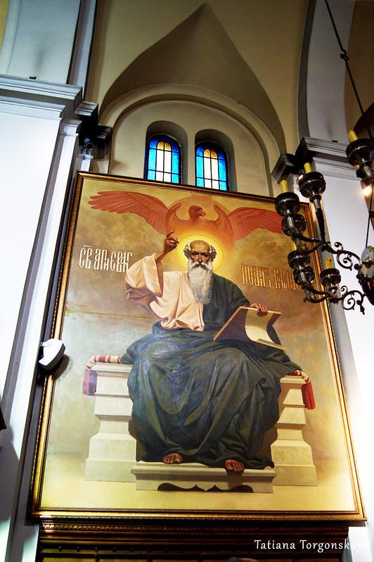 Икона на стене церкви Св.Николая